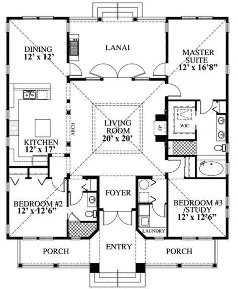 Coastal Cottage Floor Plans | beach cottage floor plans cottages cabins tiny