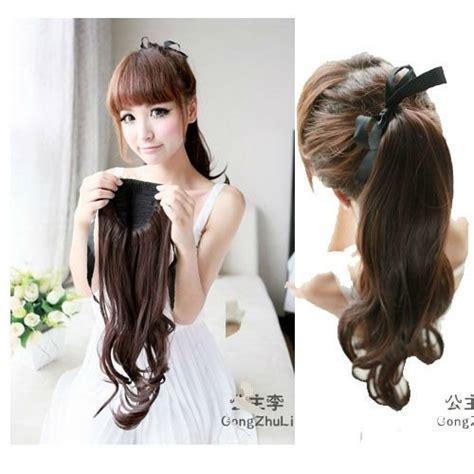 chongo or ponytail chongo coleta postizos 24 pulgadas onduladas lisas