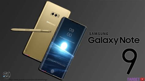 Samsung Note 9 Samsung Galaxy Note 9 Look Concept Design And
