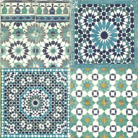 Fliesen Alte Muster by Grandeco Botanical Moroccan Tile Pattern Wallpaper Retro
