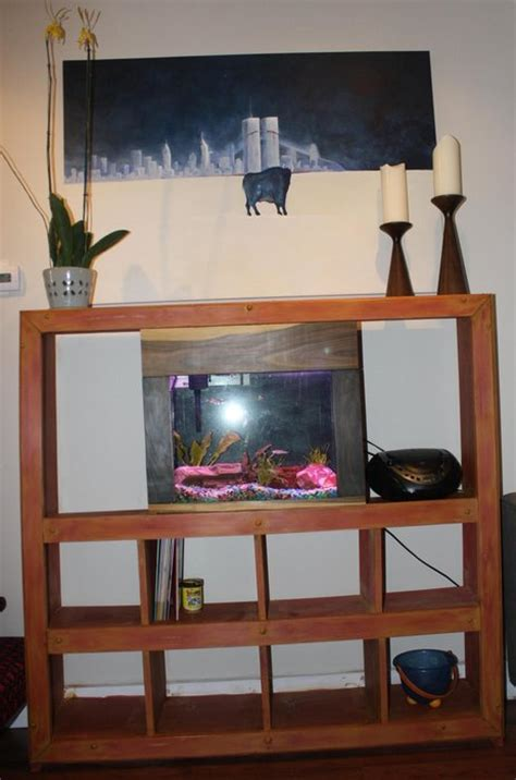 bookshelf with built in aquarium by donaldcox
