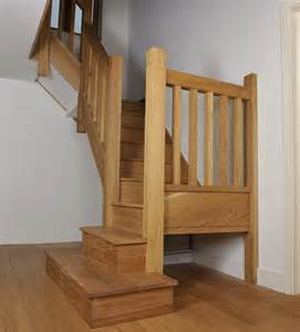 Stairs With Spindles by Oak Staircase With Square Chunky Newels Spindles And
