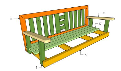 how to build a bench swing how to build a porch swing howtospecialist how to