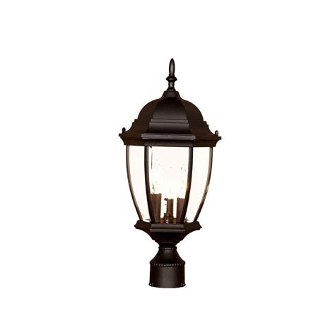 Acclaim Lighting Wexford 3 Light Matte Black Outdoor Post Post Light Fixture
