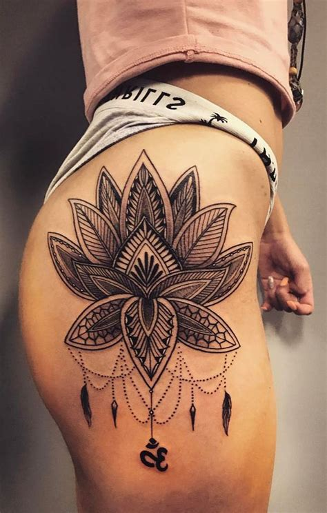 small thigh tattoo ideas 30 s badass hip thigh ideas mybodiart
