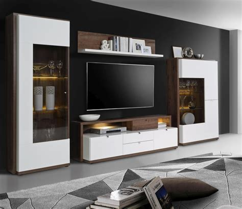 Modern Home Design In Nepal wohnwand alcano braun wei 223 sb m 246 bel discount