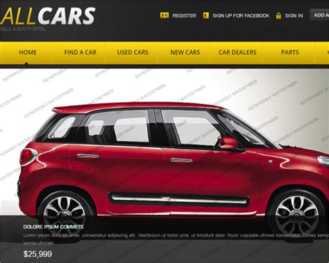 19 Car Dealer Website Themes Templates Free Premium Car Dealer Website Template