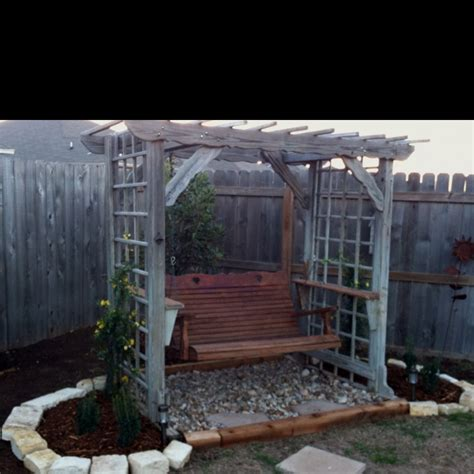 trellis with swing outdoor swing with arbor and trellis outdoor swings