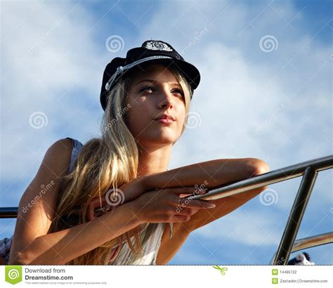 captain beautiful beautiful blonde captain stock photography image 14485722