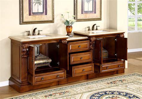 95 quot large bathroom sink vanity travertine top bath