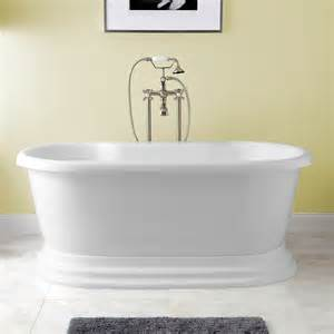acrylic soaking bathtub barkley acrylic freestanding pedestal tub bathroom