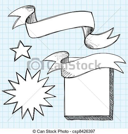 free doodle banner vector vectors illustration of scroll banner sketchy doodles