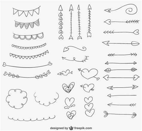 free doodle ornament doodle ornaments hearts and arrows for