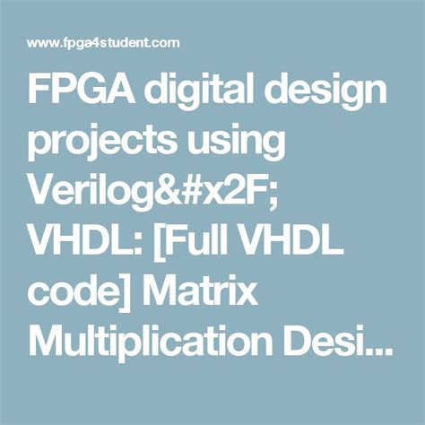 pattern generator using verilog 17 best images about fpga projects using verilog vhdl