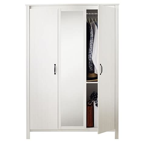 ikea wardrobe uk brusali three door wardrobe from ikea budget wardrobes
