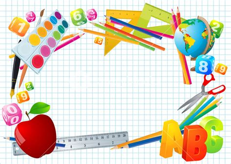 school supplies template vector free back to school vector template royalty free stock image