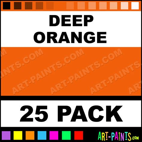 deep orange color deep orange predispersed tattoo ink paints 25 pack