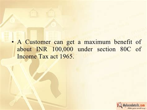 section 7 of the income tax act other home loan benefits tax exemption