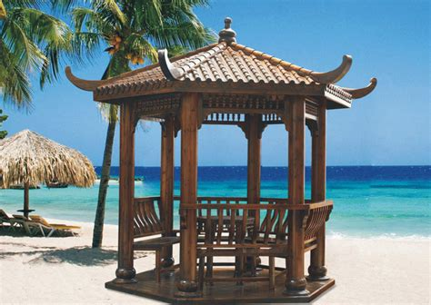 Pavilion Patio Furniture by China Pavilion Wooden Gazebo Patio Furniture Sc Y007