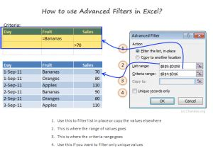 excel 2013 advanced filter tutorial define and apply advanced filters tutorial