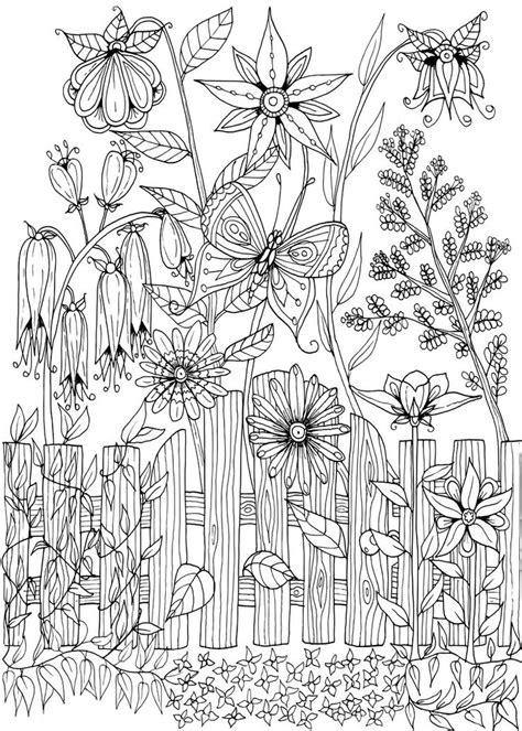coloring pages for adults garden 5364 best coloring pages drawings images on pinterest