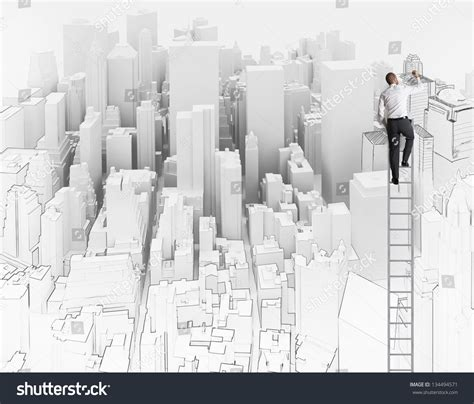 City Office Sketch Architect Stock Photo 134494571 Architectural Designer
