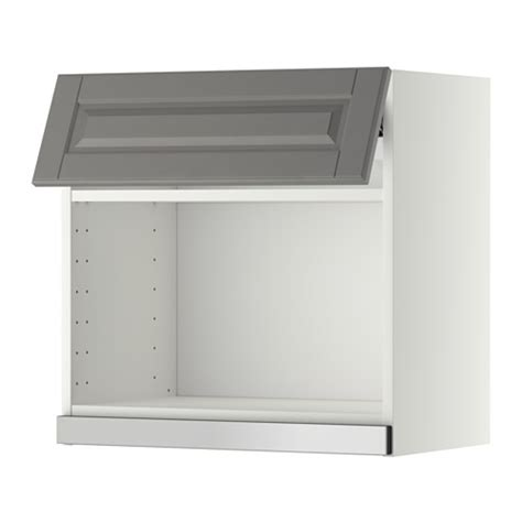 Microwave Wall Shelf White by Metod Wall Cabinet For Microwave Oven White Bodbyn Grey