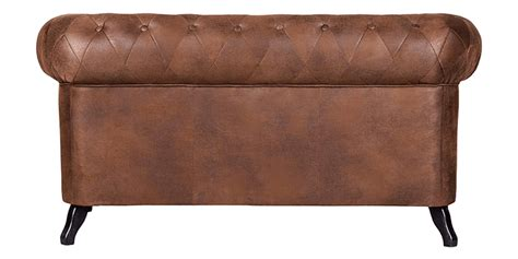 Small Chesterfield Sofa In Leatherette With Sabre Legs Small Chesterfield Sofa