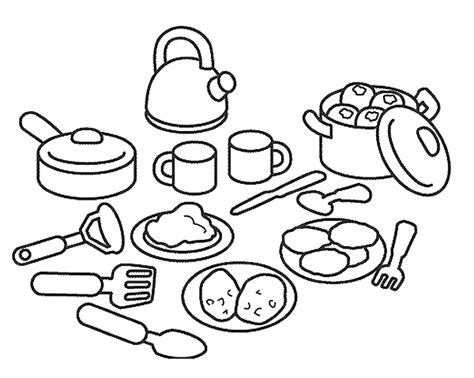 Cooking Coloring Page kitchen and cooking coloring pages coloringpages1001