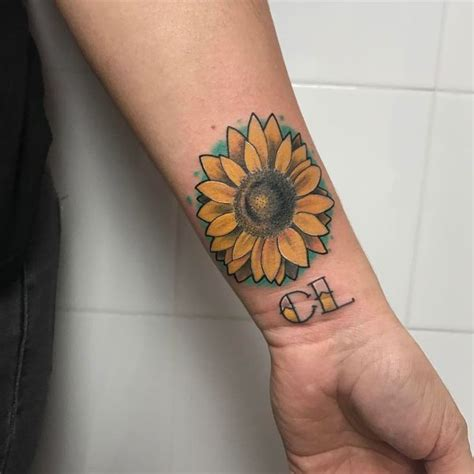 sunflower tattoo wrist sunflower meaning and best design ideas