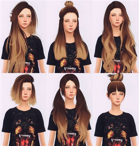 sims 4 updates sims finds sims must haves free sims elliesimple hair recolor ombr 233 sims 4 updates sims