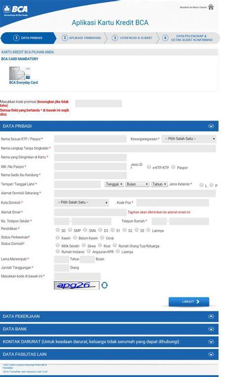 bca online cara apply kartu kredit bca online tipsxcara com