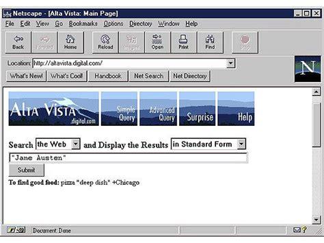 Alta Vista Search Dec Alta Vista Search Engine Chm Revolution