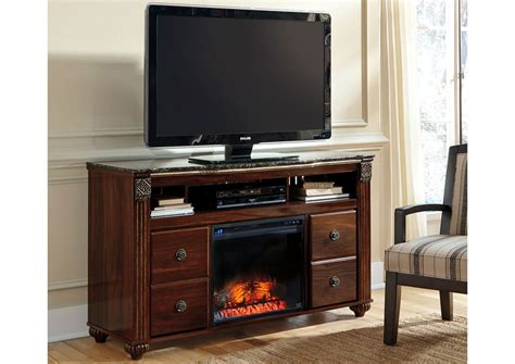jarons gabriela large tv stand w led fireplace insert