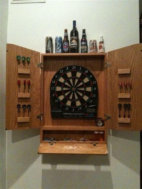dart board cabinet oak dart board cabinet by aweber lumberjocks com
