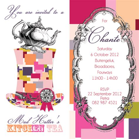 mad hatter tea invitations templates occasion packs