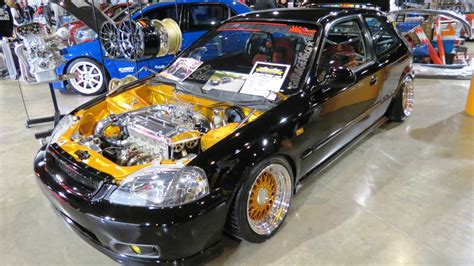 custom honda hatchback 1996 honda civic hatchback custom at 2013 megaspeed show