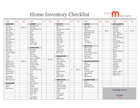 worksheet home inventory worksheet caytailoc free