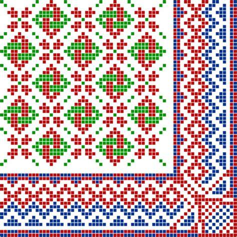 pixel pattern vector pixel border style pattern vector free vector in