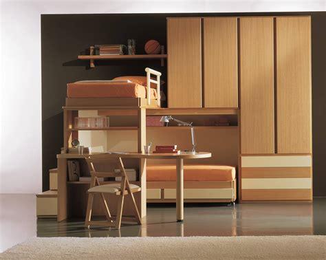 letto soppalco scrivania con letto e scaletta contenitore marzorati