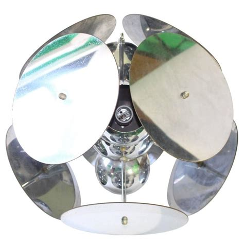 atomic lighting atomic pendant light with chromed metal discs for sale at