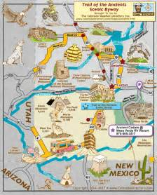 trail of the ancients scenic byway map colorado vacation