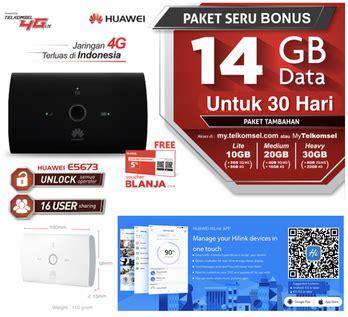 Mifi Huawei 4g E5673 Unlock Tsel 14gb 5 modem 4g telkomsel terbaik 2017 ibnuwajak id