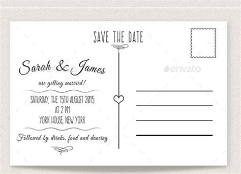 free date card templates 22 save the date postcard templates free sle