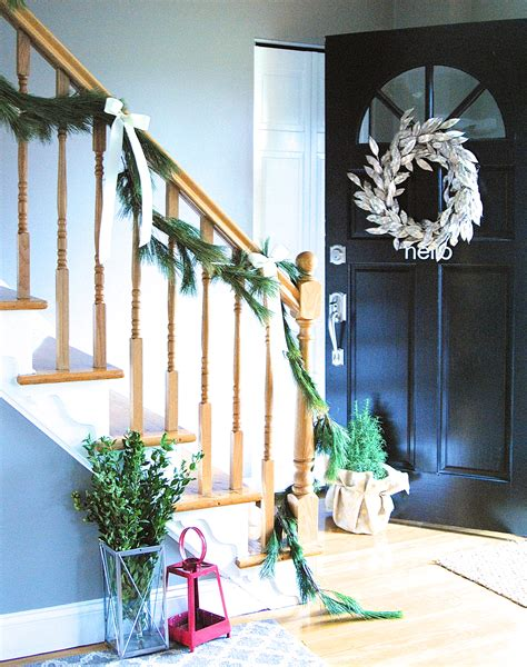 christmas home tour holiday decorating ideas entryway