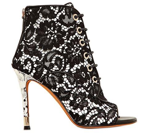 i want givenchy black white lace macrame open toe ankle