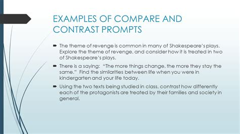 Compare And Contrast Essay Prompt by Compare And Contrast Essay Writing Prompts