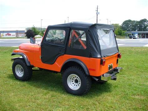 orange jeep cj purchase 1980 jeep cj5 orange v8 restored in