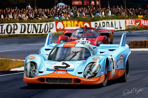 porsche 917 art porsche 917 at le mans digital art by david kyte