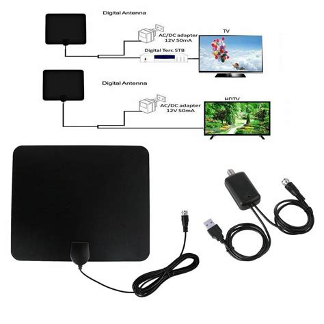 antenna tv digital hd  mile range skywire tv indoor p  ft coax cable ebay